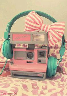 Pink and blue girly radio
