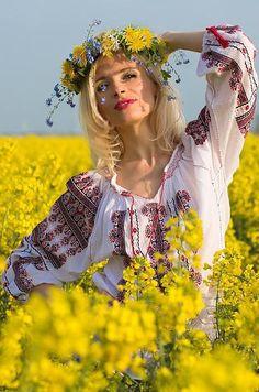Ukrainian Fields of Yellow flowers and blue skys www.waterswonder.com