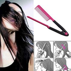 High Quality Fold V Comb Hair Straightener Hair Salon Straightening Brush Tops Straightener, Hairdresser, Your Hair, Salons, African, Hairstyle, Ebay, Videos, Tops