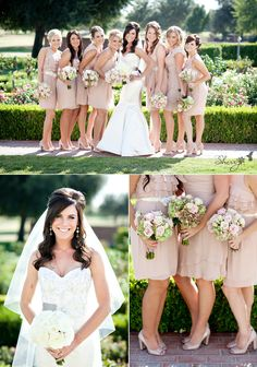 I hate the brides gown but like the simple yet elegant bridesmaids dresses