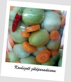 Egy kanál cukor: Kovászolt zöld paradicsom télire Cukor, Honeydew, Ketchup, Eggs, Fruit, Breakfast, Recipes, Food, Morning Coffee