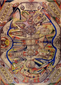 Adolf Wölfli, the enigmatic farmboy-turned-artist, composer and author. In RV 18 and RV 75. http://rawvision.com/articles/adolf-wolfli-archives http://rawvision.com/articles/wolflis-sound-pieces
