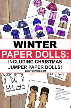 Here we're happy to bring some winter paper dolls for children which includes Christmas jumper paper dolls as well. Download, print and give them to your creative kids.
