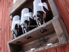 Growler drying rack recycled pallet by TheGoAwayWoodshop on Etsy