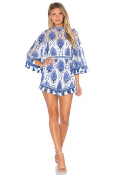 Alice McCall Young Hearts Run Free Romper in Blue | REVOLVE
