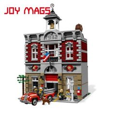 City Street Creator Fire Brigade Lepin 15004 Model Doll House Building Kits Blocks Compatible With 10197 2313Pcs : SHOP