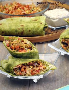 Spinach Tahini Wraps ( Nutritious Recipe For ), Indian pregnancy recipes - Pregnancy Wrap Recipes, Veg Recipes, Baby Food Recipes, Indian Food Recipes, Vegetarian Recipes, Cooking Recipes, Veg Breakfast Recipes, Burrito Recipes, Vegetarian Starters