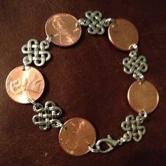 Penny Bracelet with Links by AnnPedenJewelry on Etsy, $6.99