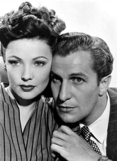 Gene Tierney & Vincent Price in Laura, one of my favorites!
