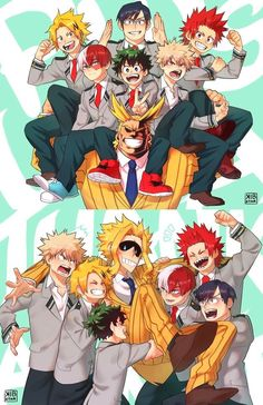 All Might and Class 1-A Heroes
