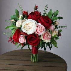 This item is unavailable Wedding Bouquet Burgundy White Pink Blush Bridal Bouquet, Eucalyptus Bride, Bridesmaids, Silk Flower Silk Bridal Bouquet, Silk Wedding Bouquets, Blush Wedding Flowers, Blush Bridal, Flower Bouquet Wedding, Blush Bouquet, Silk Flowers, Fake Flowers, Natural Garden