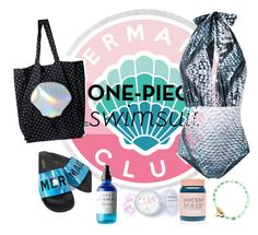 """""""Mermaid club: secretly a mermaid"""" by marijapaspalj ❤ liked on Polyvore featuring Mona, Circus by Sam Edelman, In Your Dreams, Lime Crime, The White Brand and Olivine Atelier"""