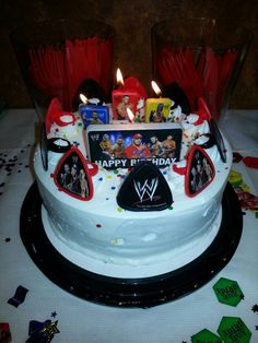 Bday cake wwe party