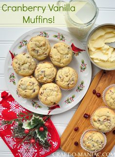 """Oh' My' these """"Cranberry Vanilla Muffins"""" are delicious and perfect to make this holiday season. Whether there for your next door neighbors, for your friends, to take to your co-workers, or to serve at your next Holiday dinner…. they are a win win all around! So today I am in the midst of utterchaos, messes, …"""