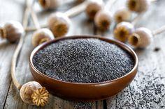 Gotowanie maku | Ania Starmach Wooden Tables, Poppies, Almond, Seeds, Nutrition, Food, Wood Tables, Essen, Poppy