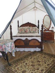 """Glamour Camping"" at Slattery Vintage Estates Winery in Nehawka Nebraska"