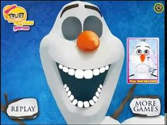 Frozen Olaf Disney Frozen Olaf at the doctor videos games for kids - YouTube