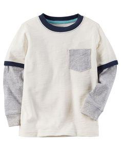 50125048c6f Toddler Boy Layered-Look Pocket Ringer Tee