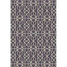 Oriental Weavers of America Leland Dark Gray Rectangular Indoor/Outdoor Woven Area Rug (Common: 5 x 7; Actual: 5-ft W x 6.58-ft L)
