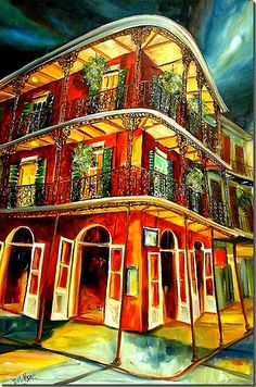 New Orleans Art By Diane Millsap Louisiana French Quarter