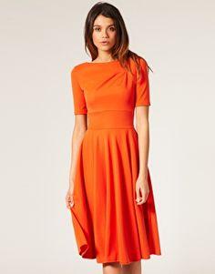 Bridesmaid Orange dress