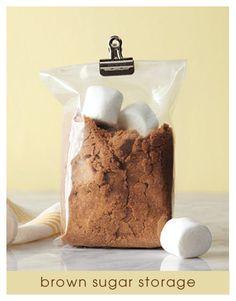 Repin Date: 7/18/12 ~ Pin Count Before Repin: ~ 44 ~ Original Description: Keep Brown Sugar Soft With Marshmallows