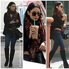 #VanessaHudgens Gets #Caffeine #WakeUp #Call in the #Middle of the #Day!Vanessa Hudgens #bares her #midriff while #sipping on an #icedcoffee on #Wednesday (April 2) in #LosAngeles.... - Celebrity Fashion