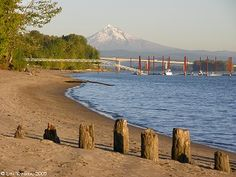 Looking upstream from Wintler Park, Vancouver, Washington