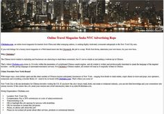 A cool ad sales opportunity is available in New York City for someone with a background in digital publishing and/or experience with one or more of the following areas: New York travel and tourism, upscale retail shopping, restaurant industry and real estate.
