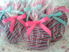 Hot Pink Tiffany Blue Chocolate Covered Oreos por Sweettoothsweetie