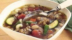 Slow-Cooker Vegetable Minestrone recipe from Betty Crocker