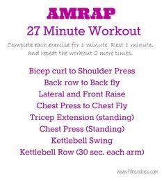 AMRAP 27 Minute Workout
