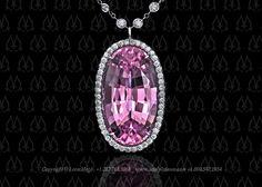 pink topaz pendant by Leon Mege