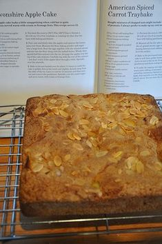 I'm making good use of the cook book as we have another Mary Berry Baking Bible cake on my hands. This Devonshire apple cake is a traybake and fairly easy to make. Mary Berry Apple Cake, Mary Berry Cake Recipes, Apple Cake Recipes, Baking Recipes, Dessert Recipes, Apple Cakes, Bramley Apple Recipes, Cookie Recipes, Mary Berry Sponge Cake