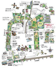 綾瀬イラストマップ