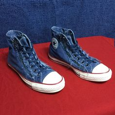 CONVERSE twin zip up high top ALL STAR...w9.5 m7.5 Minimal,wear...no noticeable issues Converse Shoes