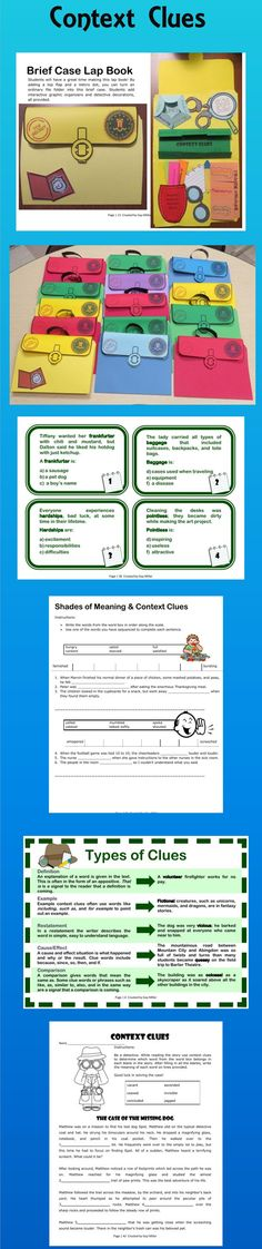 This packet includes fun activities that can be added to the printables you probably already have such as a brief case lap book and task cards. $