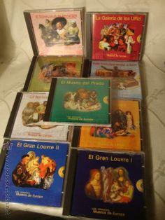 LOTE COLECCION DE 9 CDROM LOS GRANDES MUSEOS DE EUROPA EN SU CAJA, ENTRA TODO.