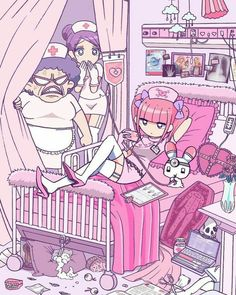 22 ideas for wallpaper pastel goth anime art Pastel Goth Art, Pastel Decor, Kawaii Drawings, Cute Drawings, Kawaii Art, Kawaii Anime, Pretty Art, Cute Art, Aesthetic Art