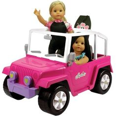 """Doll Car, 4x4 Doll Beach Cruiser for 18 Inch Dolls Like American Girl, Fits Two 18"""" Dolls. Dolls and Doll Clothes and Doll Boogie Board Not Included Sophia's http://www.amazon.com/dp/B0047UX4IE/ref=cm_sw_r_pi_dp_.UyLwb1JTSCVM"""