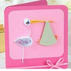 It's a Girl! Quilled Card @ Rs. 249