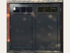 Garage Door Styles, Garage Door Design, Carport Garage, Garage Doors, Tall Cabinet Storage, Locker Storage, Backyard Garden Design, Black Doors, French Doors