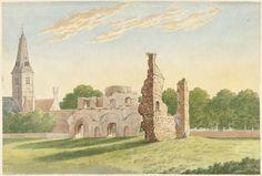 Gerardus Johannes Verburgh | De ruïne van de Abdij van Rijnsburg, Gerardus Johannes Verburgh, 1812 |