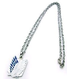 Shingeki no Kyojin Blue Survey Legion Necklace