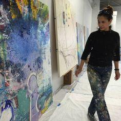 A day in the studio. Layers. www.annemarchand.com #abstractart #contemporaryart #acreativedc #artnews #annemarchand