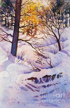 Seldovia Ravine. watercolor, 15 x 22. Remembering the beauty of Seldovia, Alaska.