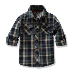 Toddler Boys' Plaid Shirt