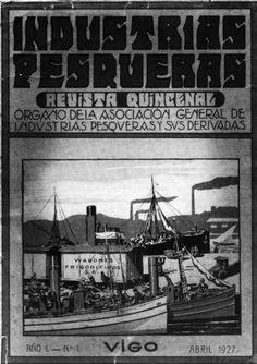 Portada da revista Industrias Pesqueras, fundada por Valentín Paz Andrade
