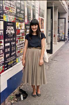 long skirt + smile