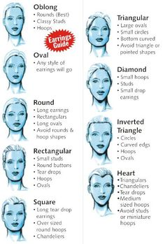 Earrings suggestions for different face shapes
